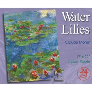 PUZZLE WATER LILIES MONET 24PC