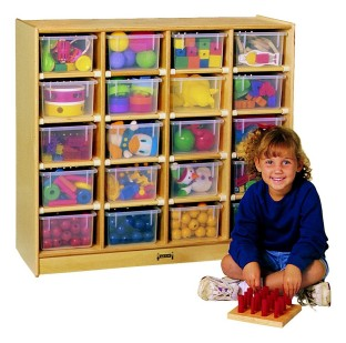 20-Tray Cubbie with Color Trays