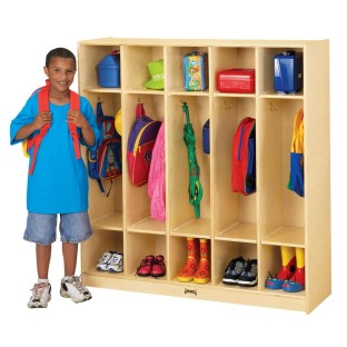 Coat Locker, 5 Sections, 48
