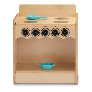Add a stylish stove to any play kitchen.