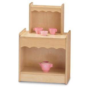 Add a stylish cupboard to any play kitchen.