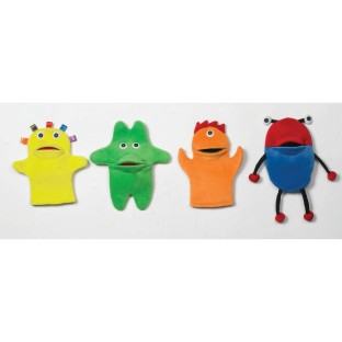 FUNSTER PUPPETS SET OF 4