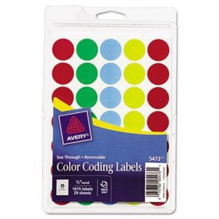 TRANSLUCENT COLOR CODING LABELS PK/1000