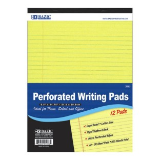Canary Legal Writing Pads, 8-1/2