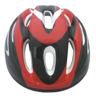 BICYCLE SAFETY HELMET SMALL RED AND BLACK GRAPHICS