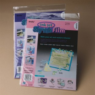INKJET PRINTABLE SHRINK FILM WHITE 8 1/2 X 11 IN