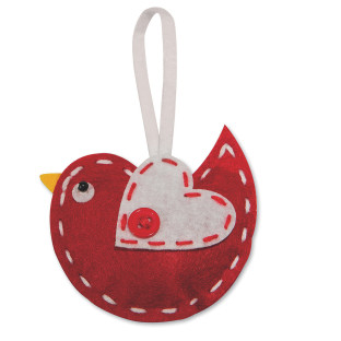 Stitched Bird Ornament Craft Kit