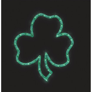 LIGHT UP SHAMROCK DECORATION 18 IN