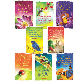 Give Thanks to God Bulletin Board Poster Set