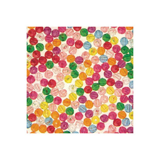 Multicolor Faceted Plastic Beads Assorted