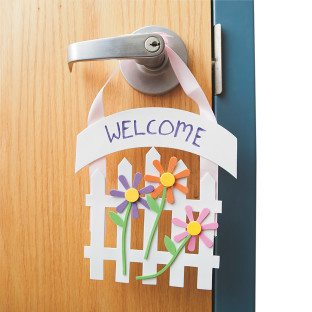 Welcome Door Hanger Craft Kit
