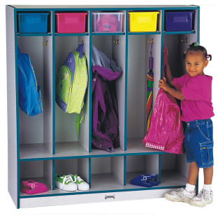 Rainbow Accents® 5-Section Locker with Step
