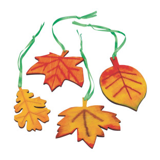 Wood Leaves Craft Kit