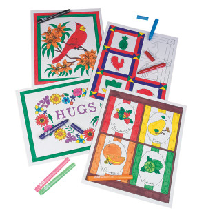 Color-In Posters Craft Kit