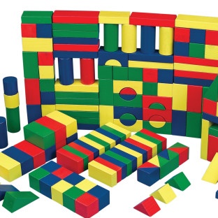 Colored Wooden Block Set