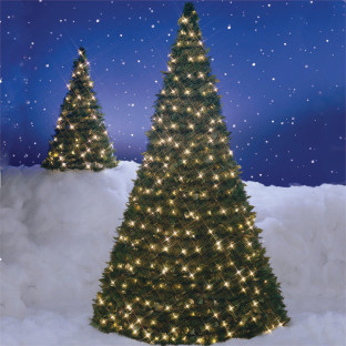 Pull Up Christmas Tree With Lights, 6u0027