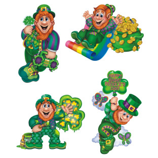 St. Patrick's Day Leprechaun Cutouts