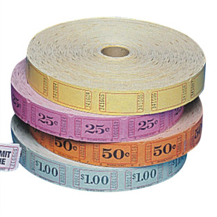 Single Roll Tickets - 50 Cents