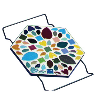 TRIVET HEXAGON BK 8X10IN PK12