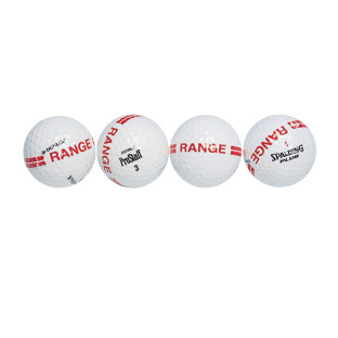 Range Golf Balls with Stripe