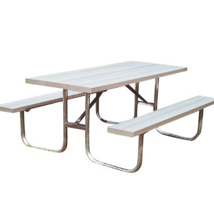 6' Portable Aluminum Picnic Table