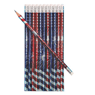 Patriotic Burst Pencils