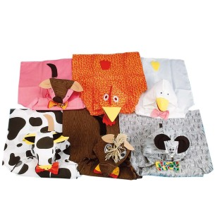ANIMAL COSTUMES SET/6