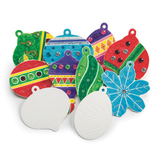 COLOR-ME HOLIDAY ORNAMENTS PK48