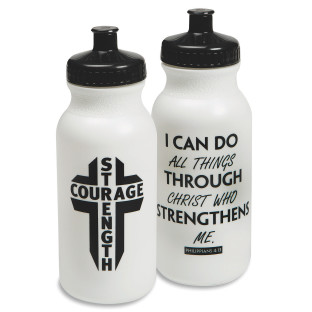 Strength And Courage Water Bottle