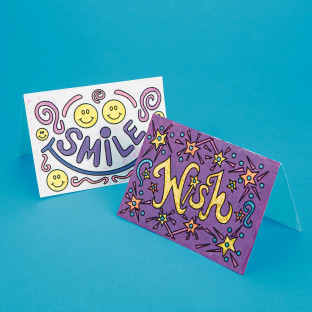 Good Vibes Velvet Art Cards Craft Kit