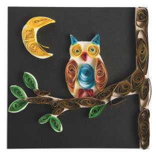 Paper Quilled Owl Craft Kit