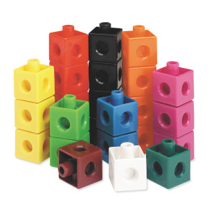 Snap Cubes Stackable Counting Set