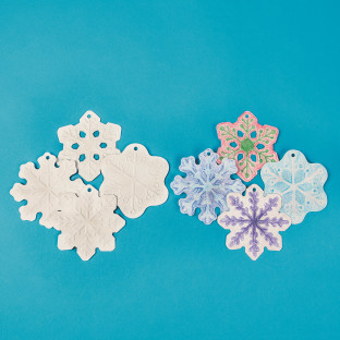 Color-Me™ Embossed Snowflake Ornaments