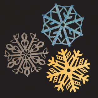 Snowflakes Laser Cut Wood Shapes