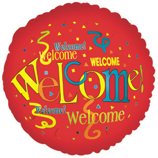 "17"" Welcome Mylar Balloon"