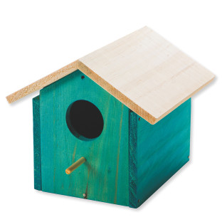 Wooden Birdhouse, Unfinished, Unassembled
