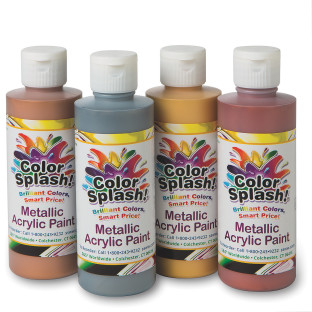 8-oz. Color Splash!® Metallic Acrylic Paint Assortment