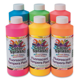 16-oz Color Splash!® Neon Liquid Tempera Paint Assortment