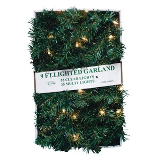 Light-Up Pine Garland