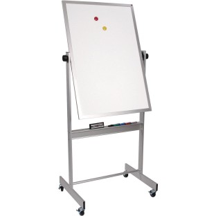 Deluxe Mobile White Board with Aluminum Trim