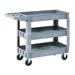 Plastic Utility Cart With Three Shelves