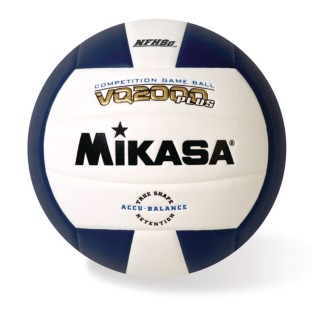 Mikasa® VQ2000 Competition Composite Indoor Volleyball, Navy/White