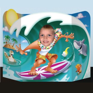 Luau Boy Photo Prop