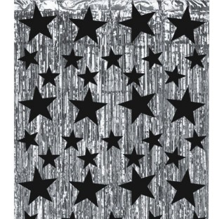Metallic Star Party Curtain