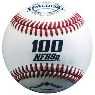 Spalding® 100 NFHS Leather Baseball
