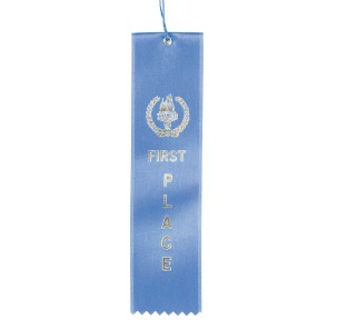 Award Ribbons First Place-Blue