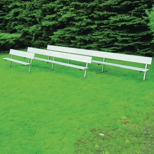 Bench with Back, 7.5', Permanent