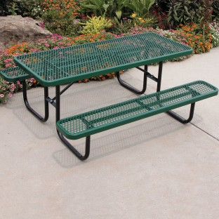 Buy picnic table 72 rectangular coated metal at ss worldwide picnic table 72 watchthetrailerfo
