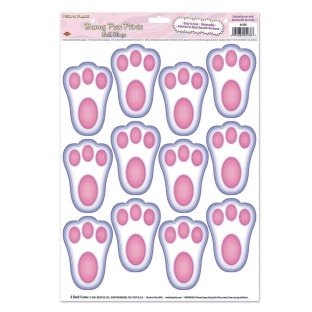 Bunny Paw Print Clings