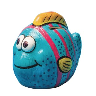 Color-Me™ Ceramic Bisque Fish Banks